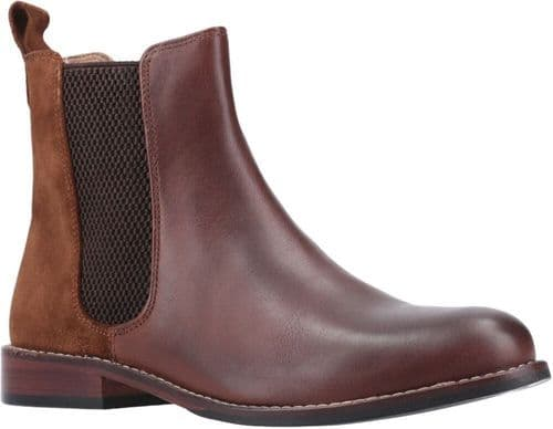 Hush Puppies Chloe Ladies Ankle Boots Brown